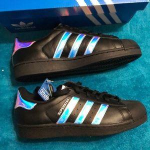 NWT Adidas Superstar in BlackLenticular NWT